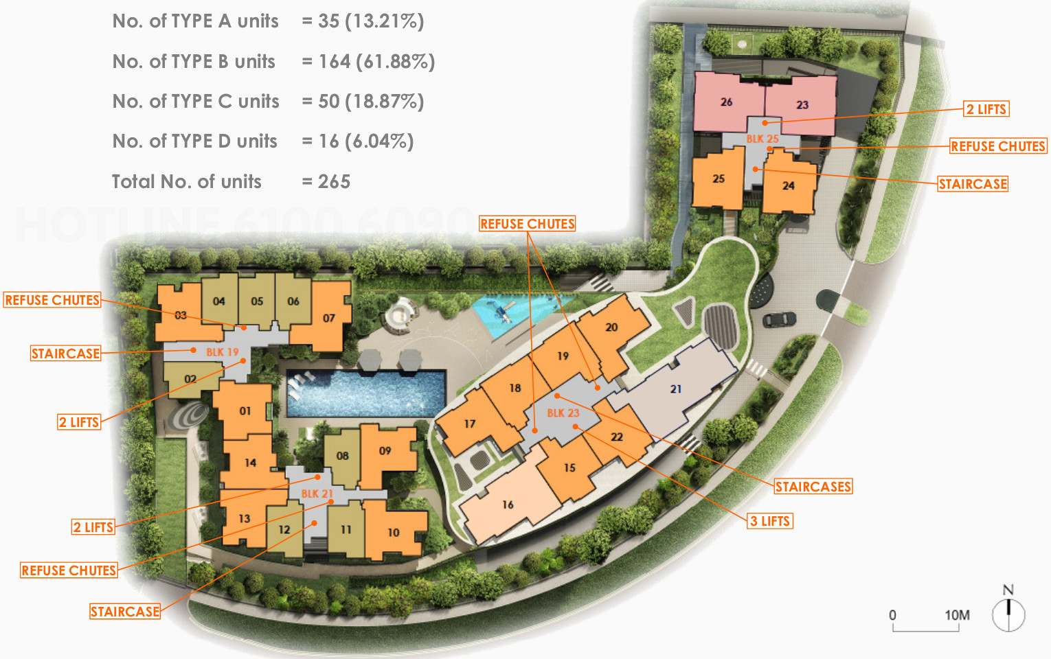 The Antares Floor Plan . Site Layout Unit Types