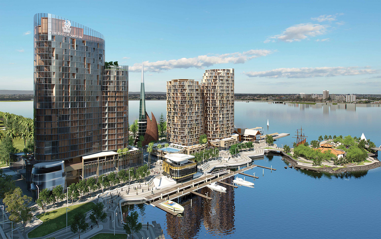 Elizabeth Quay Towers in Perth by FEC Properties . Developer for Hylle on Holland Condo