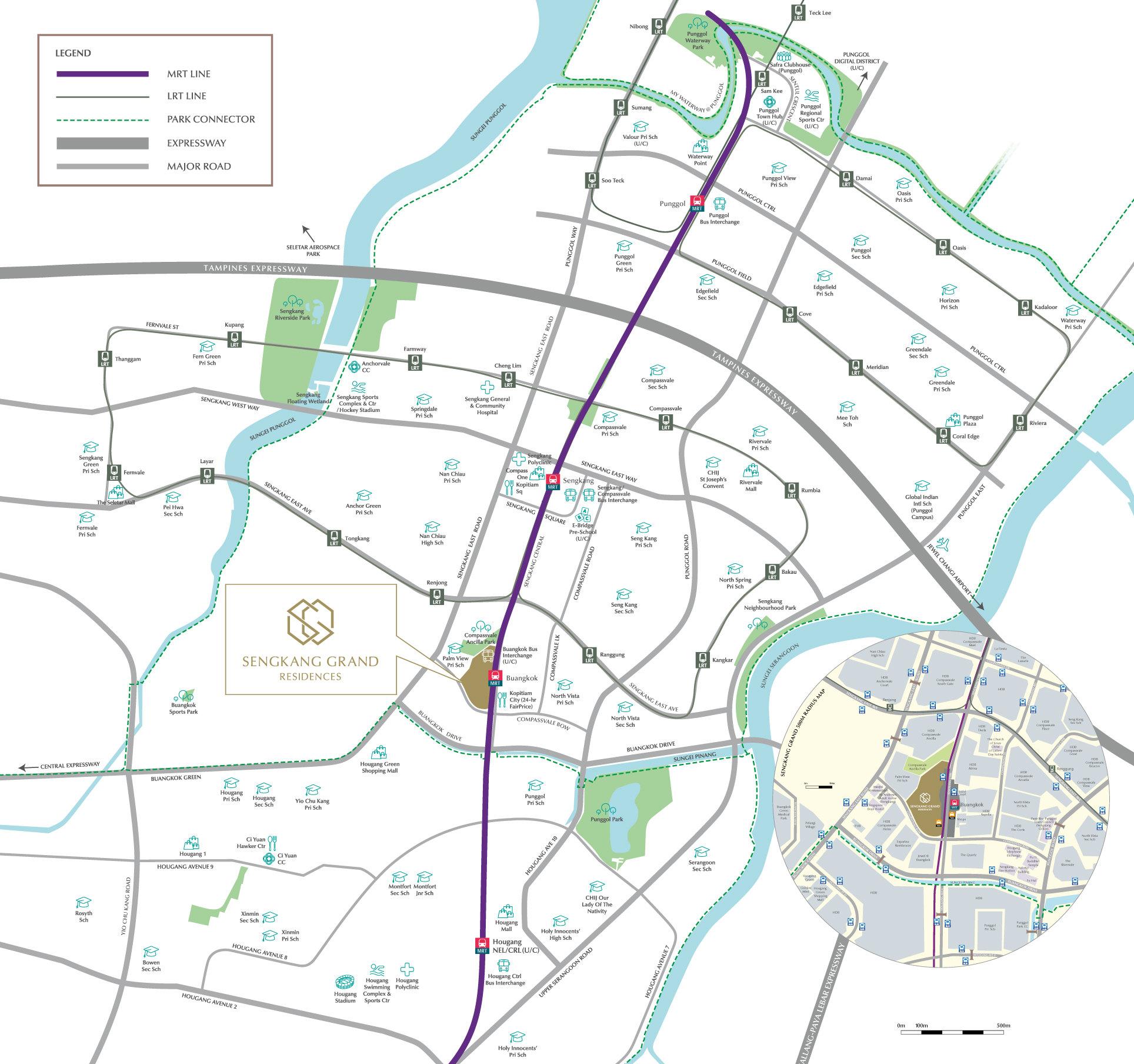 Sengkang Grand Residences Location Map