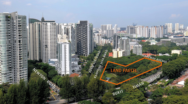 Kopar at Newton Singapore . URA Land Sale Aerial View